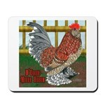 D'Uccle Rooster Mousepad