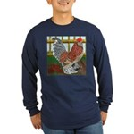 D'Uccle Rooster Long Sleeve Dark T-Shirt