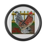 D'Uccle Rooster Large Wall Clock