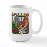 D'Uccle Rooster Large Mug