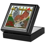 D'Uccle Rooster Keepsake Box