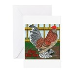 D'Uccle Rooster Greeting Cards (Pk of 10)