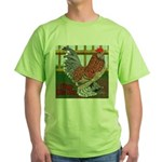 D'Uccle Rooster Green T-Shirt