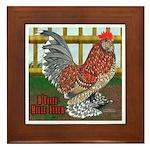D'Uccle Rooster Framed Tile