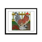 D'Uccle Rooster Framed Panel Print