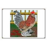 D'Uccle Rooster Banner