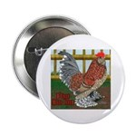 """D'Uccle Rooster 2.25"""" Button (100 pack)"""