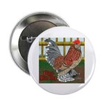 """D'Uccle Rooster 2.25"""" Button"""