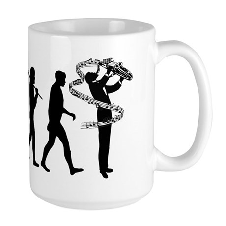 Saxophone Player Large Mug