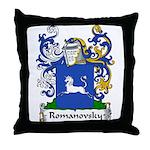 Romanovsky Family Crest Throw Pillow