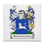 Romanovsky Family Crest Tile Coaster