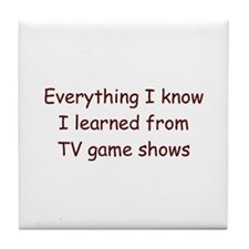 Game Shows Tile Coaster