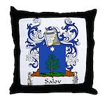 Salov Family Crest Throw Pillow