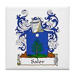 Salov Family Crest Tile Coaster