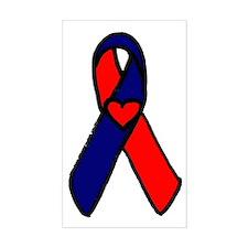 CHD Awareness Ribbon Rectangle Decal