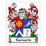 Samarin Family Crest Small Poster
