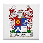Samarin Family Crest Tile Coaster