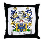 Satin Family Crest Throw Pillow