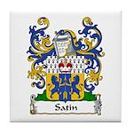 Satin Family Crest Tile Coaster