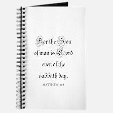 MATTHEW 12:8 Journal