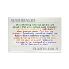Garibaldi - Quote Combo Rectangle Magnet