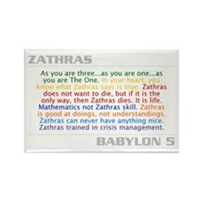 Zathras Quote Combo Rectangle Magnet
