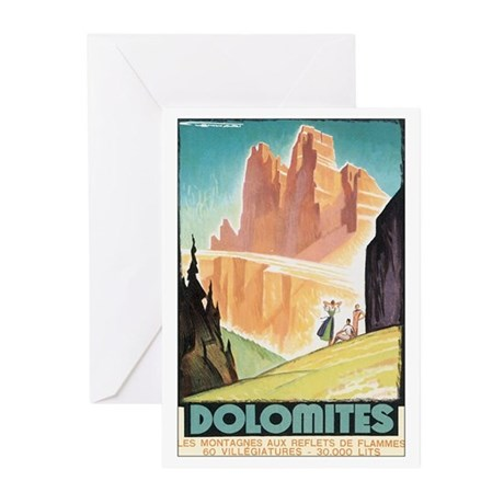 Dolomites Italy Greeting Cards (Pk of 10)