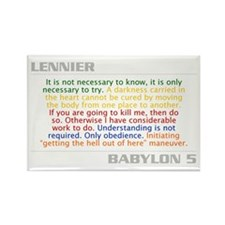 Lennier Combo Quote Rectangle Magnet