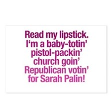 """""""Read My Lipstick"""" Postcards (Package of 8)"""