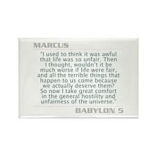 "Marcus ""Life Unfair"" Rectangle Magnet"