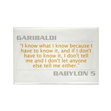 "Garibaldi ""I Know What I Know"" Rectangle"