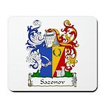 Sazonov Family Crest Mousepad