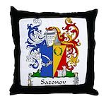 Sazonov Family Crest Throw Pillow