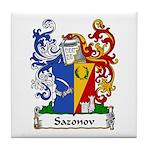 Sazonov Family Crest Tile Coaster