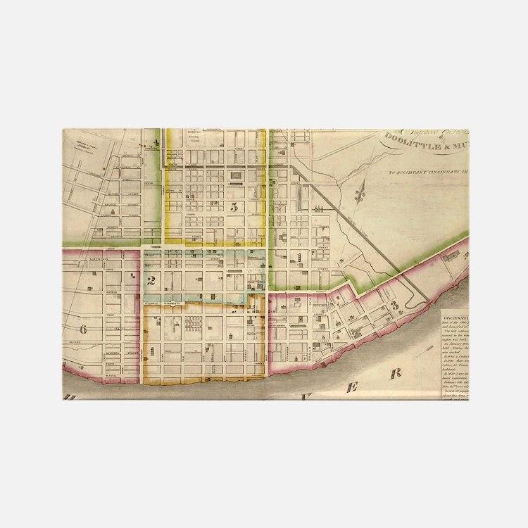 Vintage Map of Cincinnati Ohio (1841) Magnets