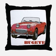 Red Bugeye Throw Pillow