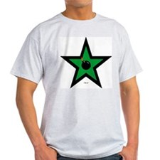 Green Star Ash Grey T-Shirt