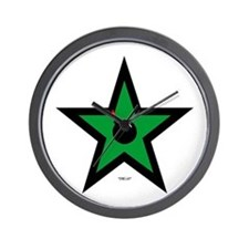 Green Star Wall Clock