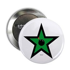 "Green Star 2.25"" Button (10 pack)"