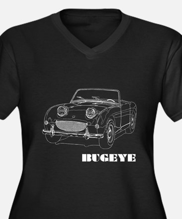 Unique Healey Women's Plus Size V-Neck Dark T-Shirt