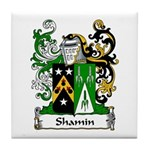 Shamin Family Crest Tile Coaster