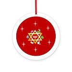 Star of David Chanukkah Keepsake (Round Ornament)