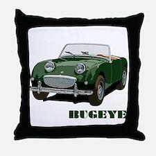 Green Bugeye Throw Pillow