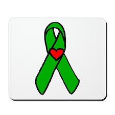 """""""Heart transplant ribbon..."""" Mousepad"""