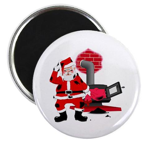 "Santa Claus & Chimney 2.25"" Magnet (10 pack)"
