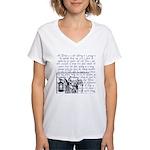 Tarot Key 9 - The Hermit Women's V-Neck T-Shirt