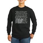 Tarot Key 9 - The Hermit Long Sleeve Dark T-Shirt