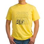 Tarot Key 9 - The Hermit Yellow T-Shirt