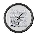 Tarot Key 9 - The Hermit Large Wall Clock