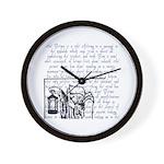 Tarot Key 9 - The Hermit Wall Clock